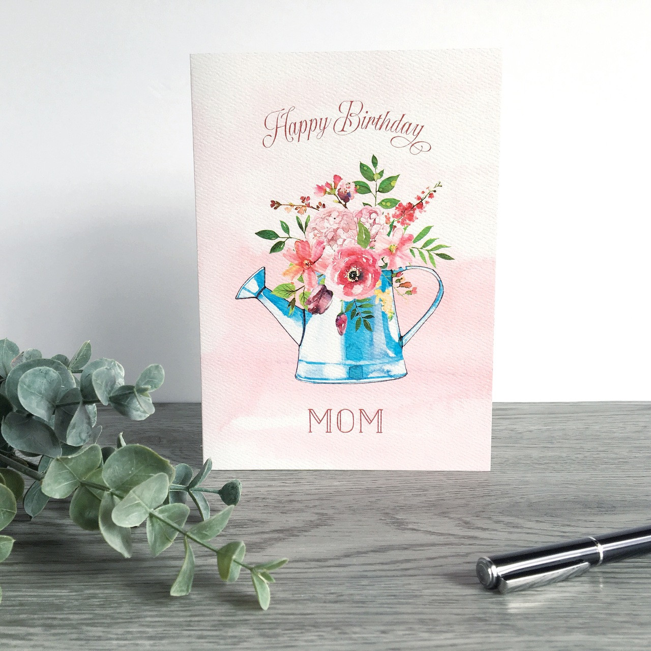 Superb Watercolor Flower Bouquet Mom Birthday Card Especially Yours Designs Personalised Birthday Cards Veneteletsinfo