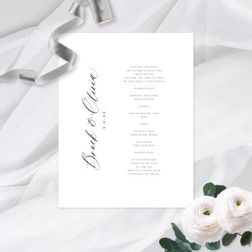 Wedding Programs   Choir Book Covers