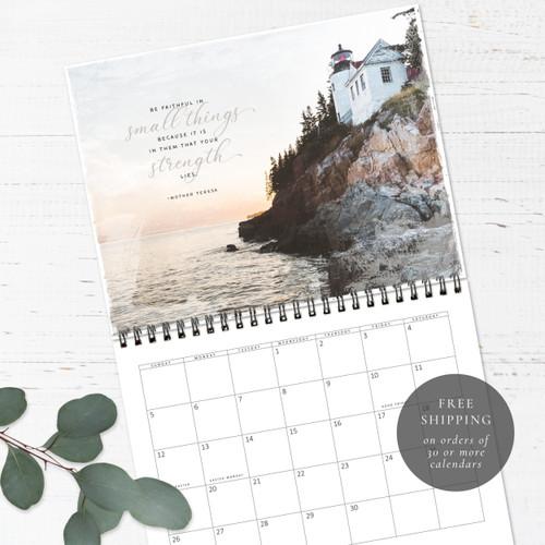 Lighthouses Birthday Calendar   Congregational or Family Birthday Calendar
