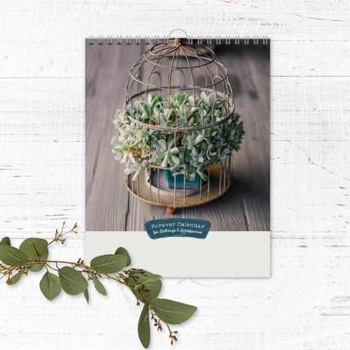 Rustic Perpetual Calendar | Forever Calendar