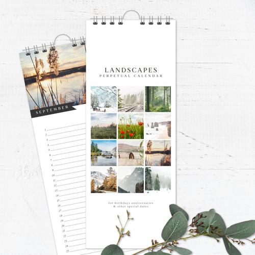 Landscapes Perpetual Calendar | Forever Calendar