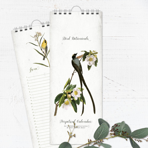 Bird Botanical Perpetual Calendar | Forever Calendar