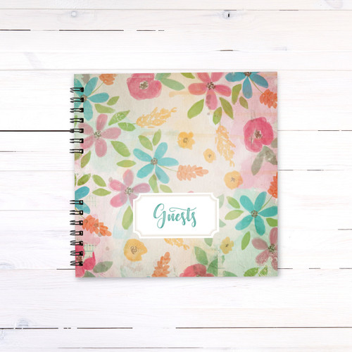 Summer Florals Guest Book