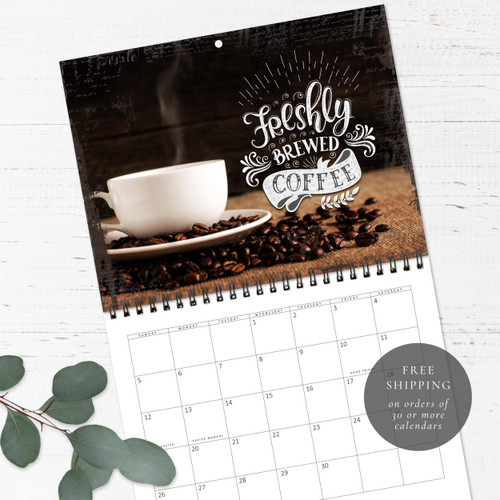 Coffee Birthday Calendar   Congregational or Family Birthday Calendar