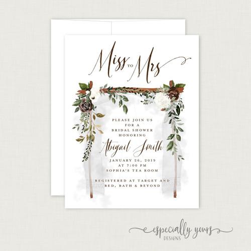 Romantic Floral Canopy Bridal Shower Invitation