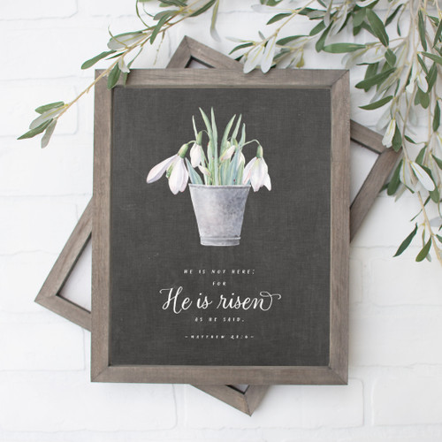 He Is Not Here Easter Art Print