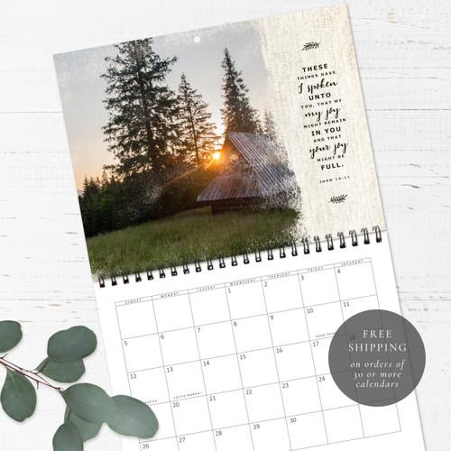 Rustic Barns Birthday Calendar   Congregational or Family Birthday Calendar