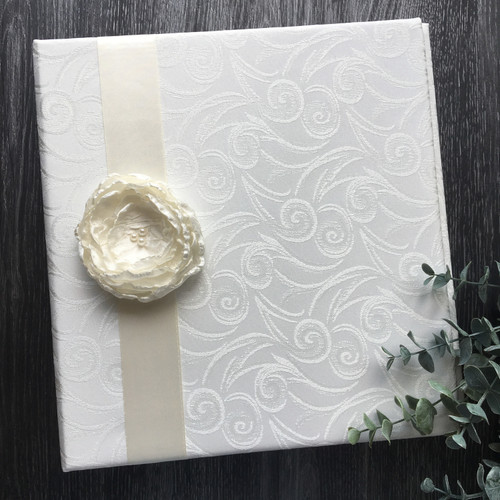 Cream Swirl & Cream Flower Wedding Book