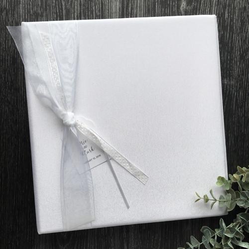 White on White Wedding Book