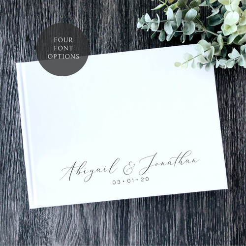 THE STANDARD - Personalized Hard Cover Wedding Book //FREE SHIPPING//