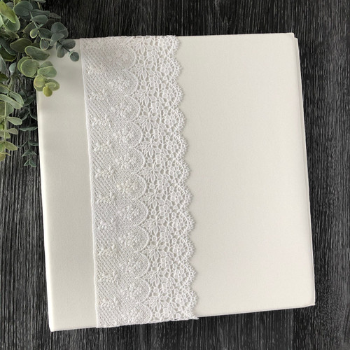 Cream Lace Wedding Book