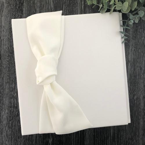 Cream Knot Wedding Book