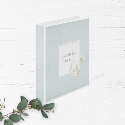 Spring Bunnies Baby Book | Binder Style