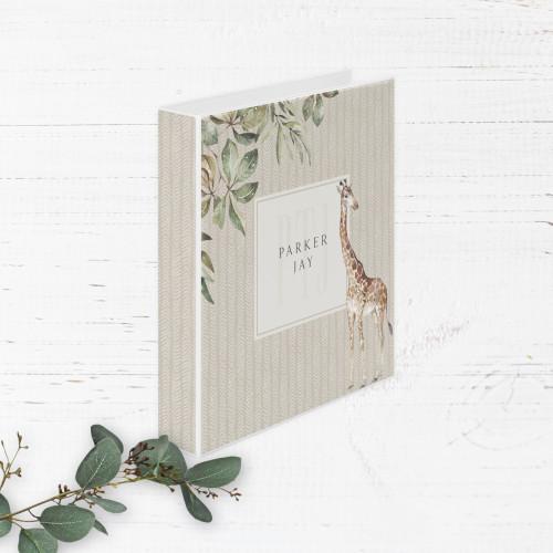 Savanna Jungle Animals Baby Book   Binder Style