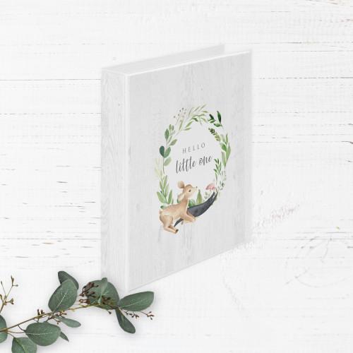Watercolor Deer Greenery Baby Book   Binder Style