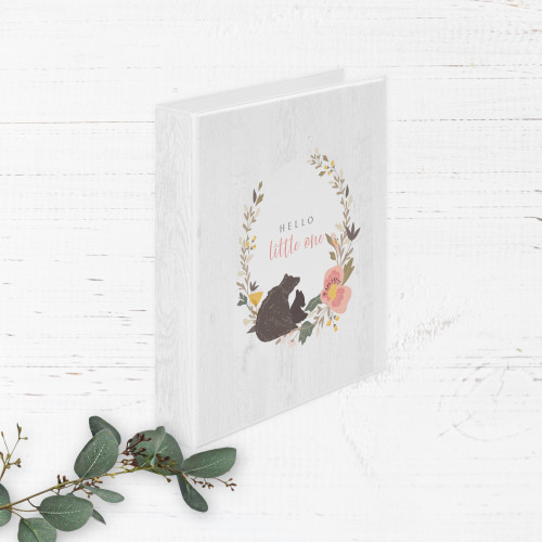 Rustic Woodland Wildflowers and Animals Baby Book   Binder Style