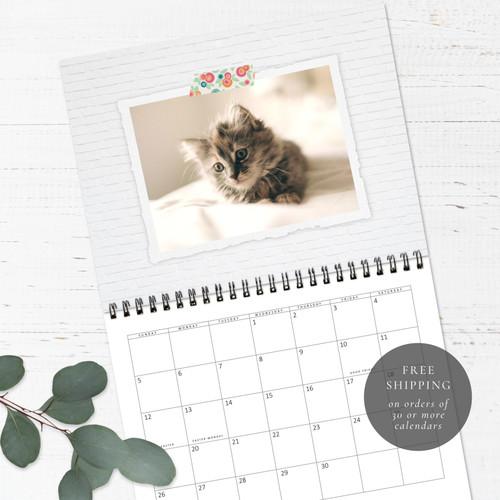 Cute Cats Birthday Calendar   Congregational or Family Birthday Calendar