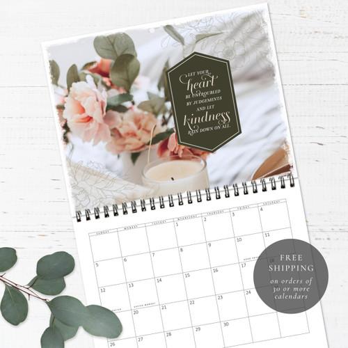 Soft Florals Birthday Calendar   Congregational or Family Birthday Calendar