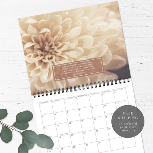 Hymns and Nature's Neutrals Birthday Calendar   Congregational or Family Birthday Calendar