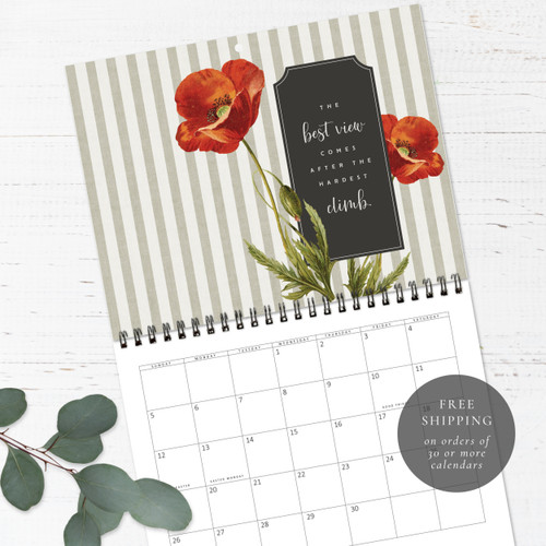 French Country Botanicals Wall Calendar