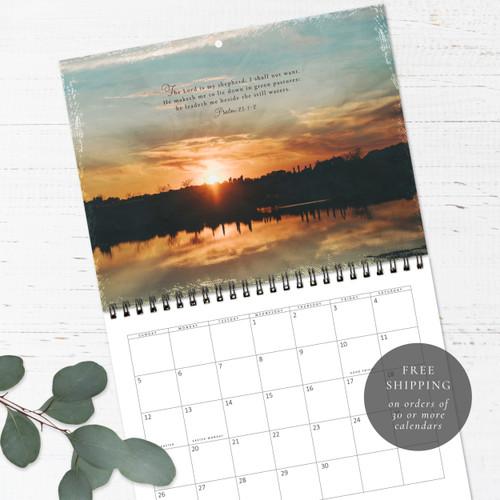 Sunset Psalms Wall Calendar