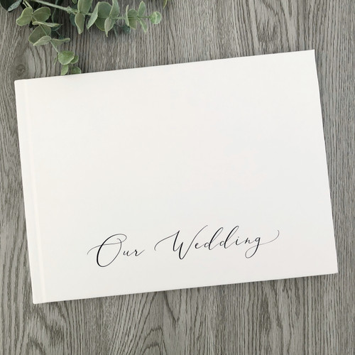 Modern Script Matte Hard Cover Wedding Book //FREE SHIPPING// READY TO SHIP // SECONDS SALE
