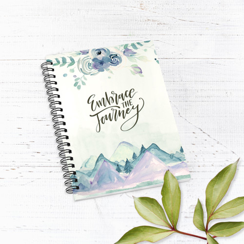 Embrace The Journey Mountains Lined Notebook/Journal