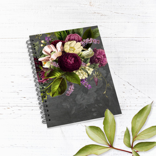 Dramatic Florals Lined Notebook/Journal
