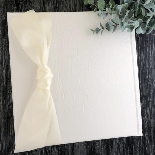 Cream on Cream Crinkle Wedding Book