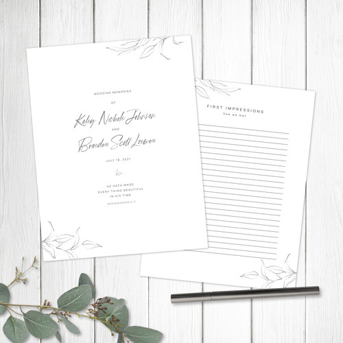 Replacement Page for your Wedding Book