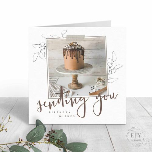 Chocolate Cake Friend Birthday Card