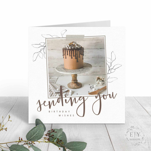 Chocolate Cake Friend Birthday Card | Wholesale