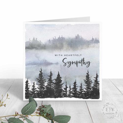 Watercolor Trees Sympathy Card