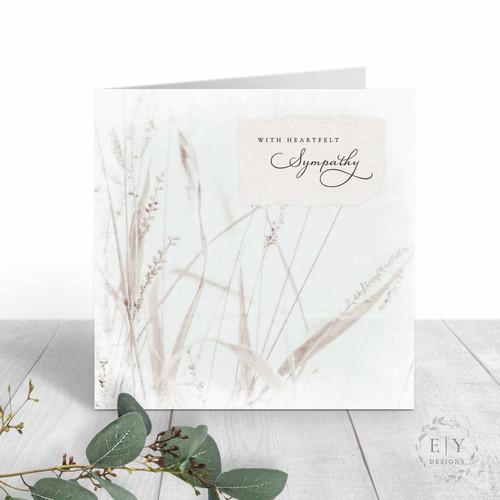 Wild Grass Sympathy Card