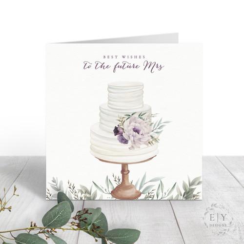 Cake Bridal Shower Card