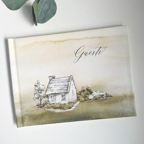 Hard Cover Cottage Guest Book // SECONDS SALE // READY TO SHIP