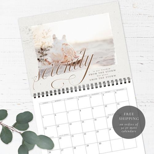 Seascapes Birthday Calendar | Congregational or Family Birthday Calendar