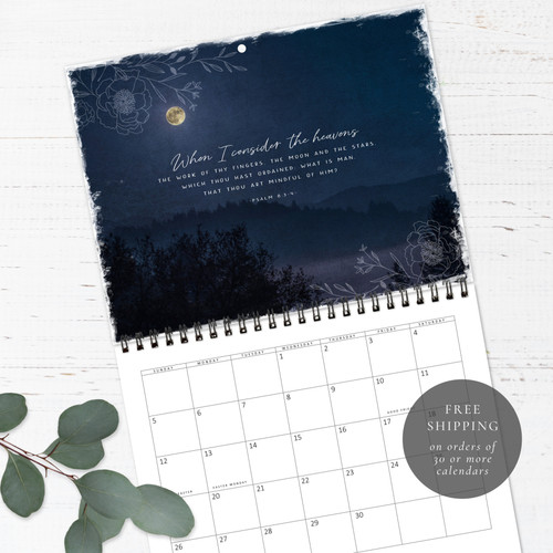 Night Skies Birthday Calendar | Congregational or Family Birthday Calendar