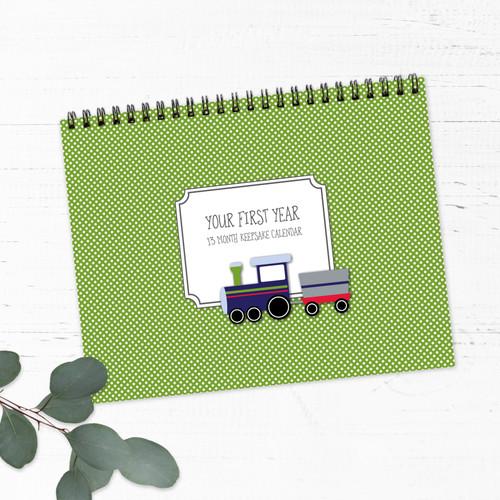Boy Transportation First Year Baby Calendar