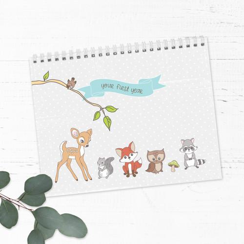 Woodland Animals First Year Baby Calendar
