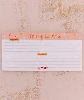 DA Recipe Notepad