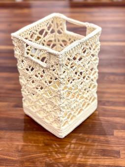 HL Crochet Tall Basket