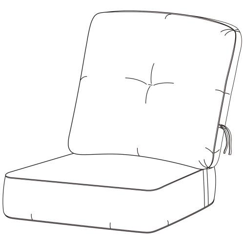Hanamint No Welt Estate Club Chair Cushion #684108