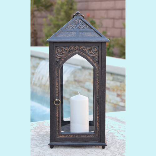 "Hurricane Lamp 17.7"" Tall"