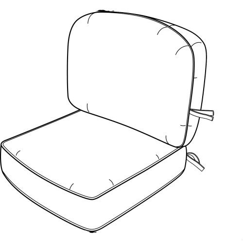 Hanamint No Welt Standard Club Chair Cushion #684103