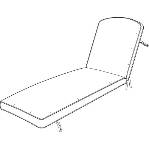 """Hanamint Chaise Cushion #693224 - 25"""" x 81.5"""" x 4"""""""