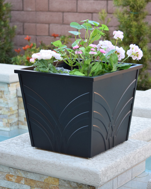 "Palm 18"" Square Planter Box"