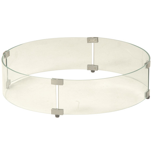 Round Fire Pit Glass Wind Guard