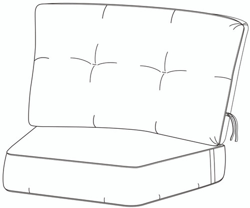 Hanamint Estate Crescent Cushion #694936