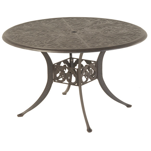 """Chateau 48"""" Round Solid Top Table in Desert Bronze"""